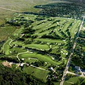 Aerial view of the Bay Course at Seaview Resort