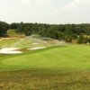 A view of a green protected by tricky bunkers at Eagle Ridge Golf Club